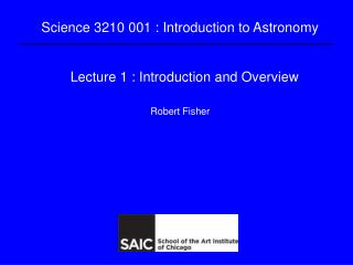 Lecture 1 : Introduction and Overview