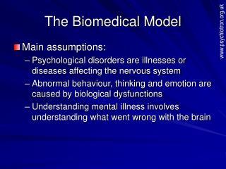 The Biomedical Model