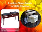 Leather Piano Bench for Sale Reviews