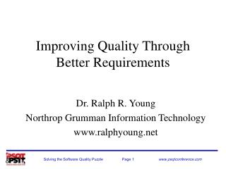 Improving Quality Through Better Requirements