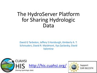 The HydroServer Platform for Sharing Hydrologic Data