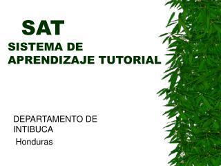 SAT SISTEMA DE APRENDIZAJE TUTORIAL