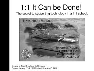 The secret to supporting technology in a 1:1 school.
