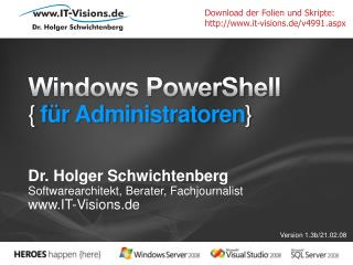 Windows PowerShell { f r Administratoren}