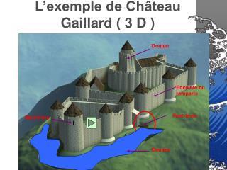 L exemple de Ch teau Gaillard  3 D