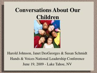 Conversations About Our Children