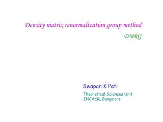 Density matrix renormalization group method