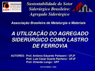 Associa  o Brasileira de Metalurgia e Materiais