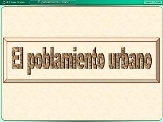 El poblamiento urbano