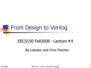 From Design to Verilog