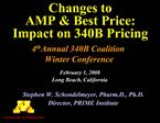Changes to  AMP  Best Price: Impact on 340B Pricing