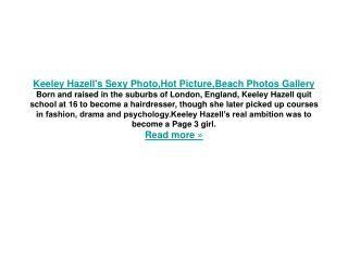 Keeley Hazell's Sexy Photo
