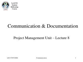 Communication  Documentation