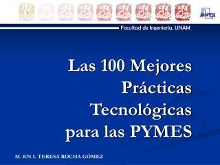 Las 100 Mejores Pr cticas Tecnol gicas para las PYMES