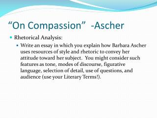On Compassion   -Ascher