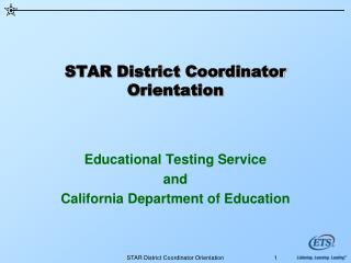 STAR District Coordinator Orientation