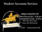 Student Accounts Services