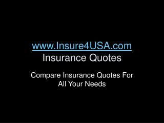 Insure4USA.com - Compare Insurance Quotes