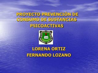 PROYECTO PREVENCI N DE CONSUMO DE SUSTANCIAS PSICOACTIVAS