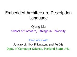Embedded Architecture Description Language