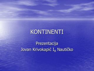KONTINENTI
