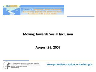 Moving Towards Social Inclusion