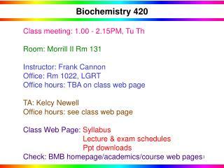 Biochemistry 420