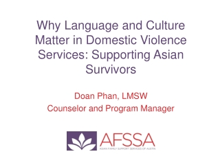 IMPROVING ACCESS FOR LIMITED ENGLISH PROFICIENT VICTIMS