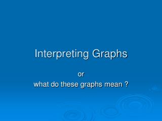 Interpreting Graphs