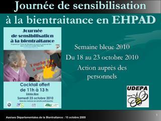 Journ e de sensibilisation    la bientraitance en EHPAD
