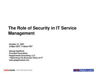 The Role of Security in IT Service Management