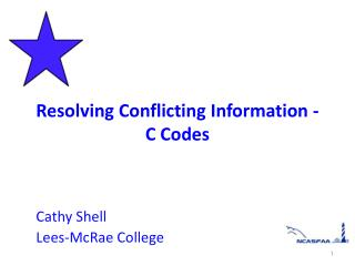 Resolving Conflicting Information -  C Codes