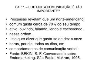 CAP. 1   POR QUE A COMUNICA  O   T O IMPORTANTE