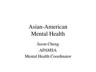 Asian-American Mental Health