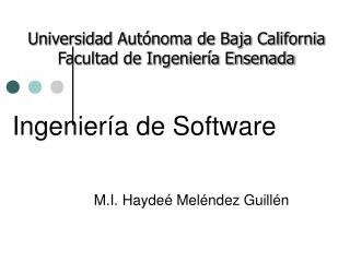 Ingenier a de Software