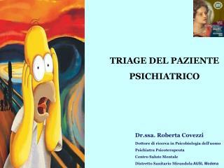 TRIAGE DEL PAZIENTE PSICHIATRICO