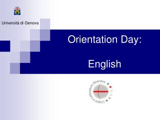 Orientation Day:  English