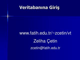 Veritabanina Giris