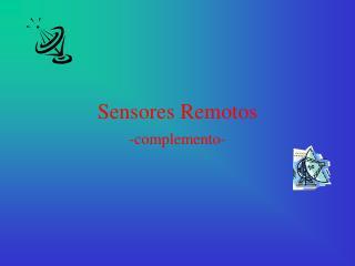Sensores Remotos
