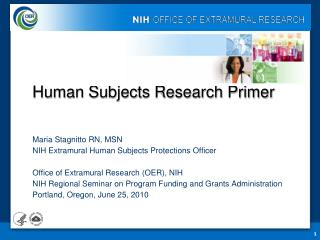 Human Subjects Research Primer