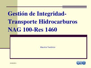 Gesti n de Integridad-Transporte Hidrocarburos NAG 100-Res 1460