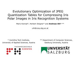 Evolutionary Optimization of JPEG Quantization Tables for Compressing Iris Polar Images in Iris Recognition Systems