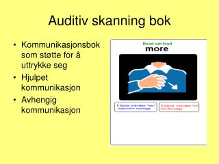 Auditiv skanning bok