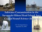 Saltwater Contamination in the Savannah-Hilton Head Island Area Coastal Sound Science Initiative