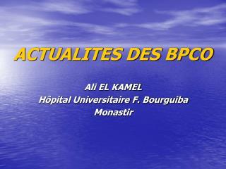 ACTUALITES DES BPCO