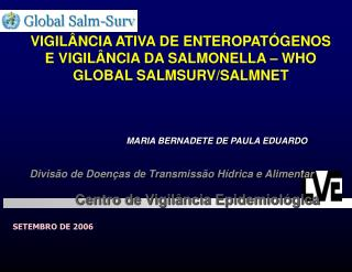 VIGIL NCIA ATIVA DE ENTEROPAT GENOS E VIGIL NCIA DA SALMONELLA   WHO GLOBAL SALMSURV