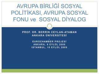 AVRUPA BIRLIGI SOSYAL POLITIKASI, AVRUPA SOSYAL FONU ve  SOSYAL DIYALOG