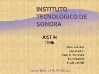 Instituto Tecnol gico de Sonora