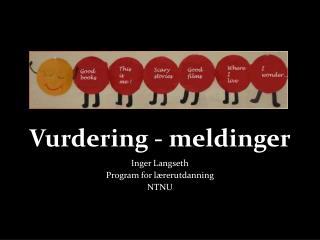 Vurdering - meldinger