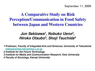 A Comparative Study on Risk Perception